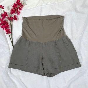 Maternity shorts Sz S linen
